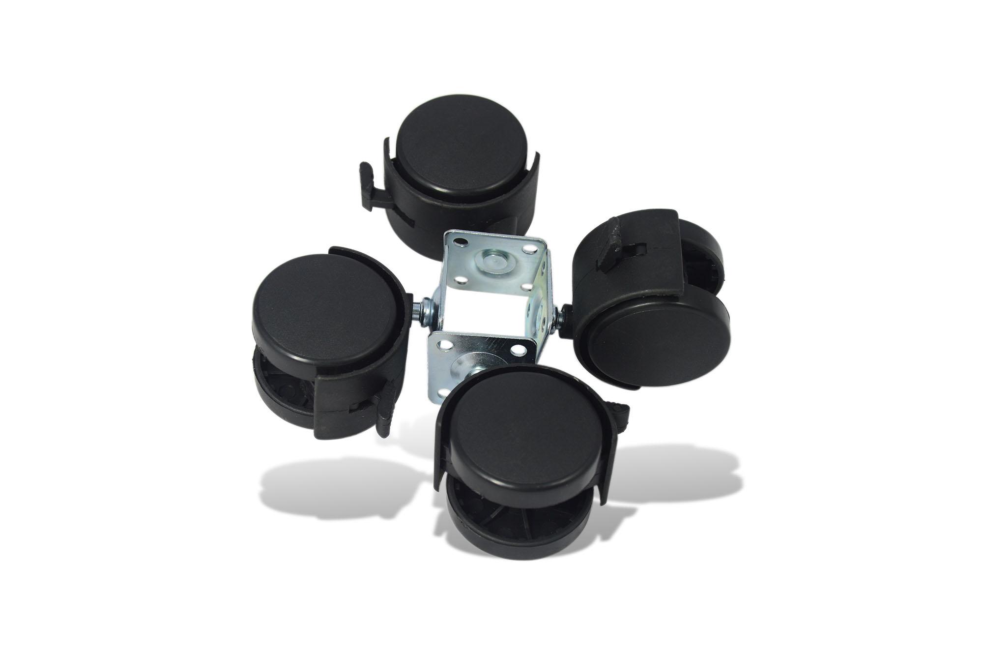 4x m belrollen mit platte bremse r der lenkrolle bockrollen laufrollen 50mm ebay. Black Bedroom Furniture Sets. Home Design Ideas
